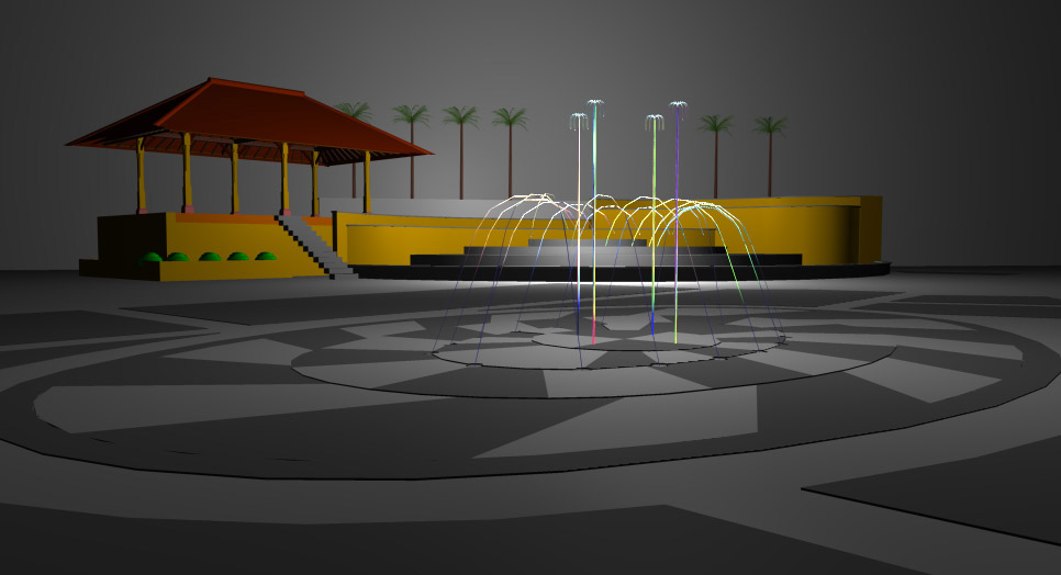 Fountain rendering